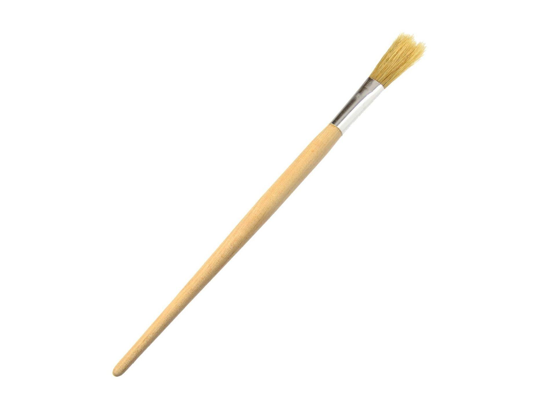 Štětec kulatý, 10 mm, dřevěná rukojeť GEKO