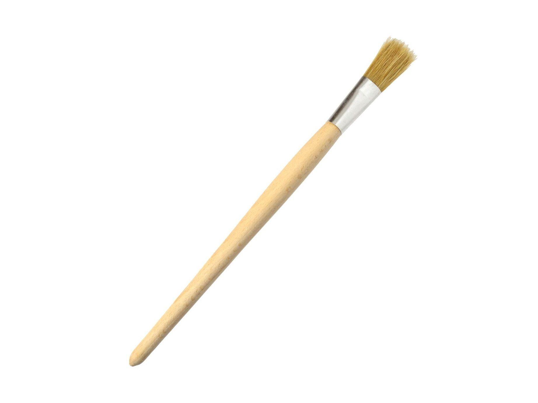 Štetec kulatý, 12 mm, dřevěná rukojeť, GEKO