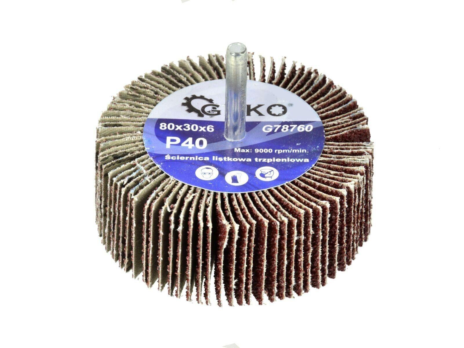 Kotouč brusný se stopkou, 80x30x6 mm, P100, GKEO GEKO