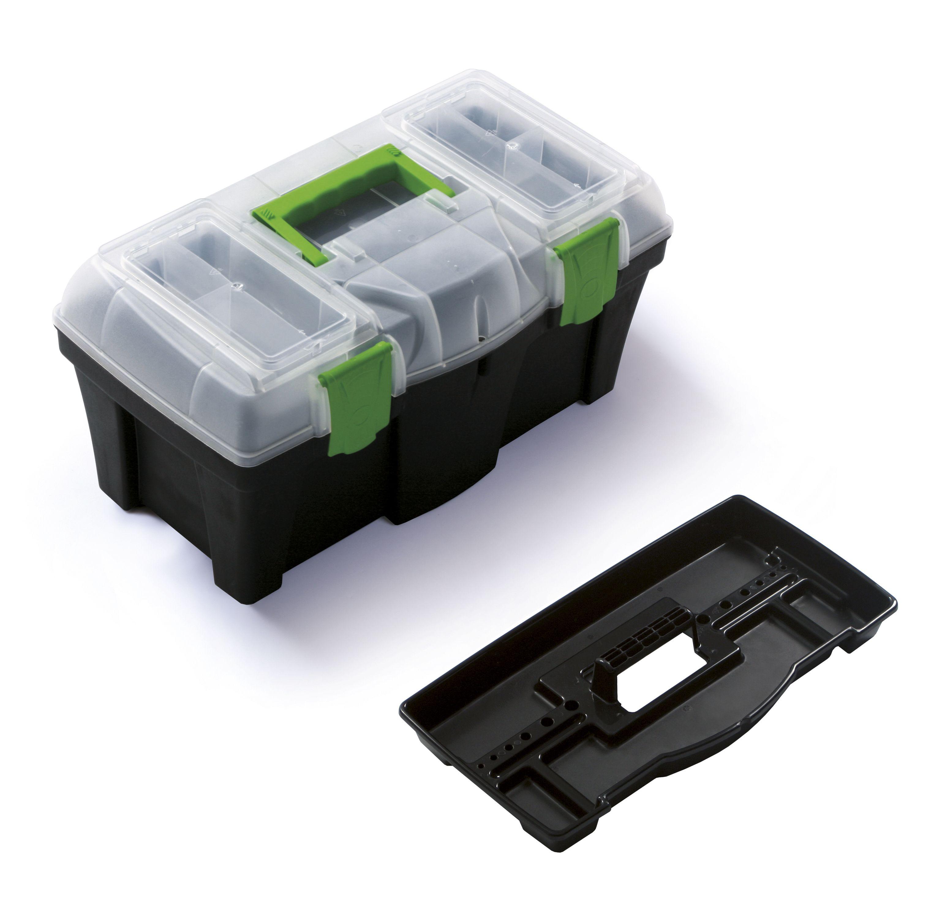 """Plastový box na nářadí 18"""", nosnost 11,5 kg, GREEN BOX SIXTOL"""