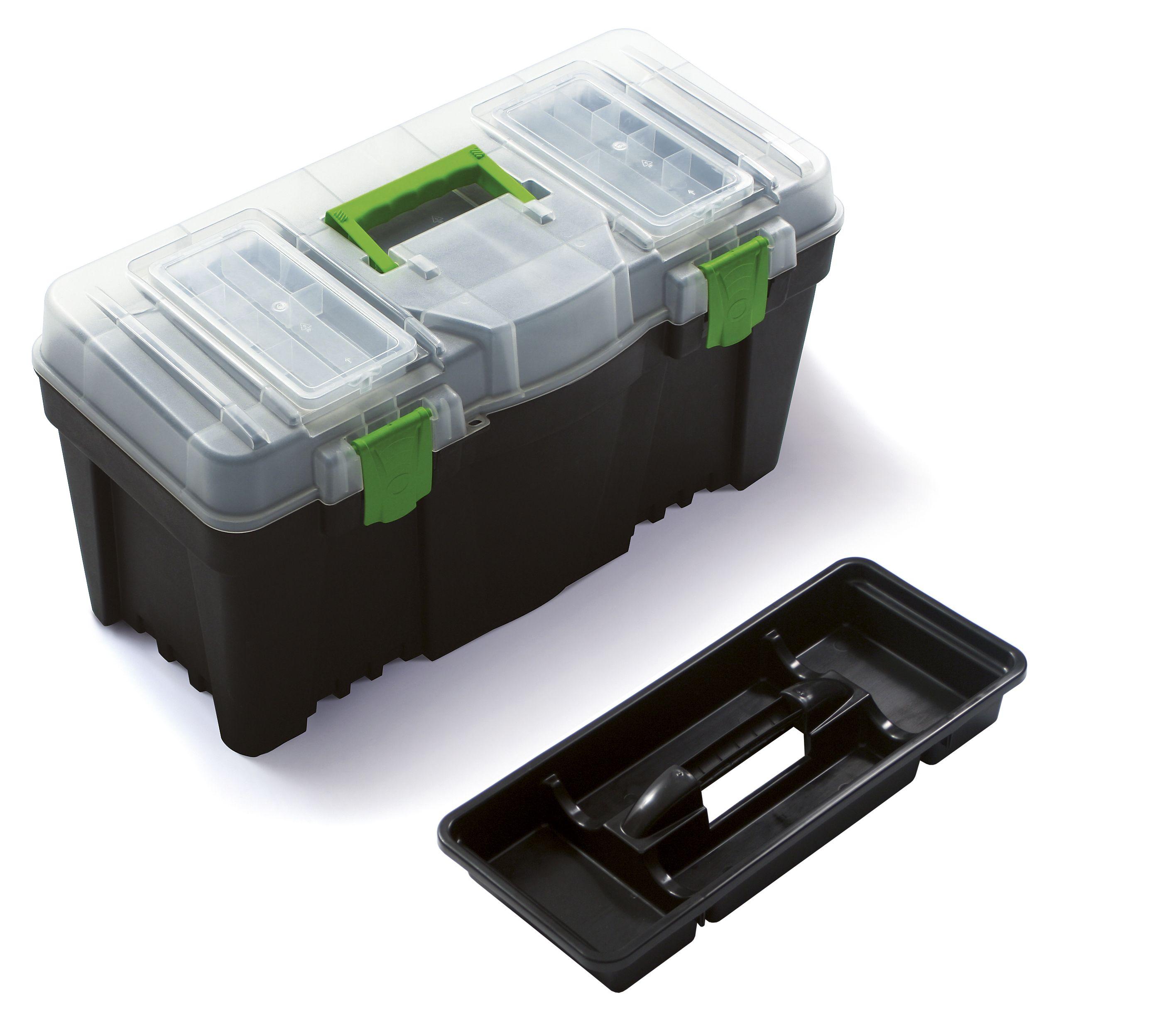 """Plastový box na nářadí 23,5"""", nosnost 21 kg, GREEN BOX SIXTOL"""