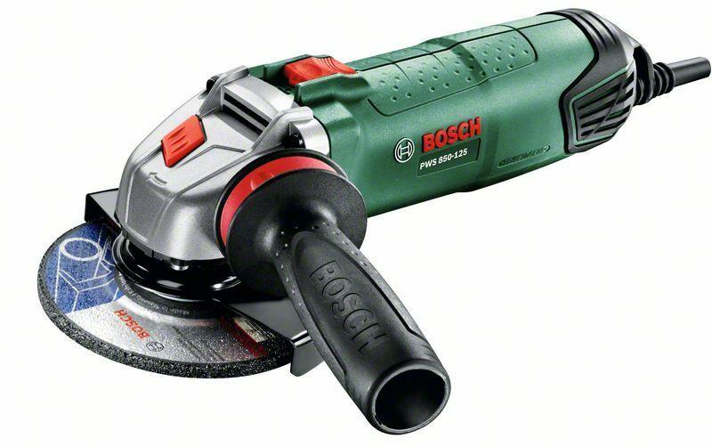 Bosch PWS 850-125 úhlová bruska + plastový kufr, 06033A2720
