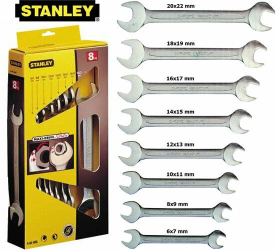 Sada klíčů 8dílná oboustranných MaxiDrive STANLEY 4-87-052