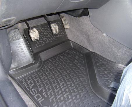 Gumové koberce Mercedes-Benz C-Klasse Sedan (W205) (14-)  (3D) SIXTOL