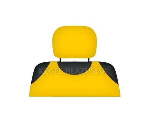 Potah na opěrky hlavy, žlutý
