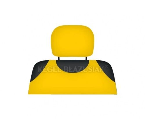 Potah na opěrky hlavy, žlutý SIXTOL