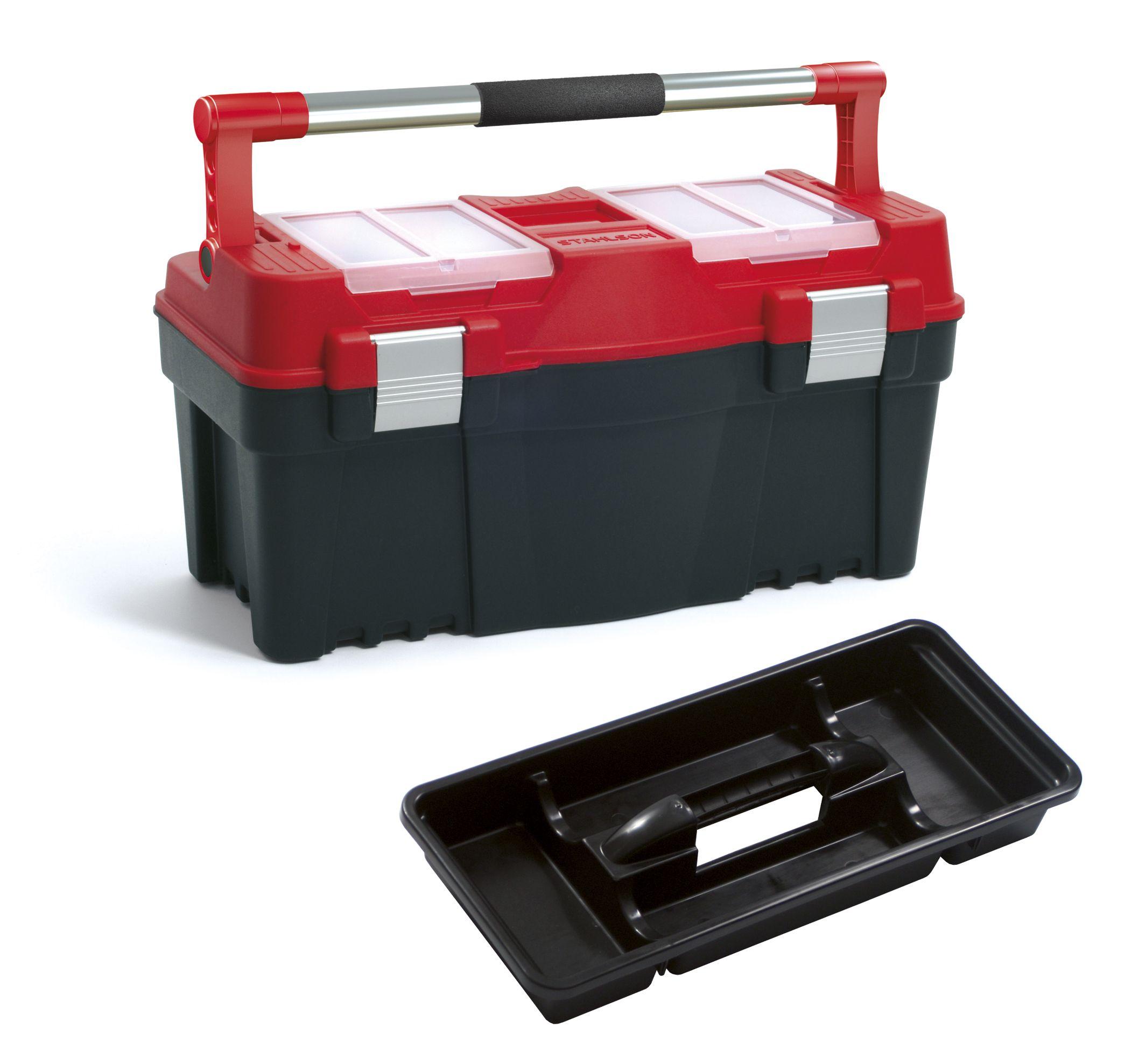 """Plastový box na nářadí 22"""", nosnost 20 kg, PRACTIC, 2 organizéry na víku SIXTOL"""