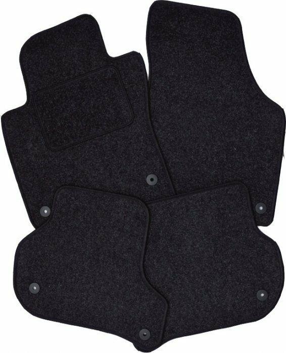 Auto koberce Skoda Fabia 3 2014 -> kulatá fixace šedé, textilní SIXTOL
