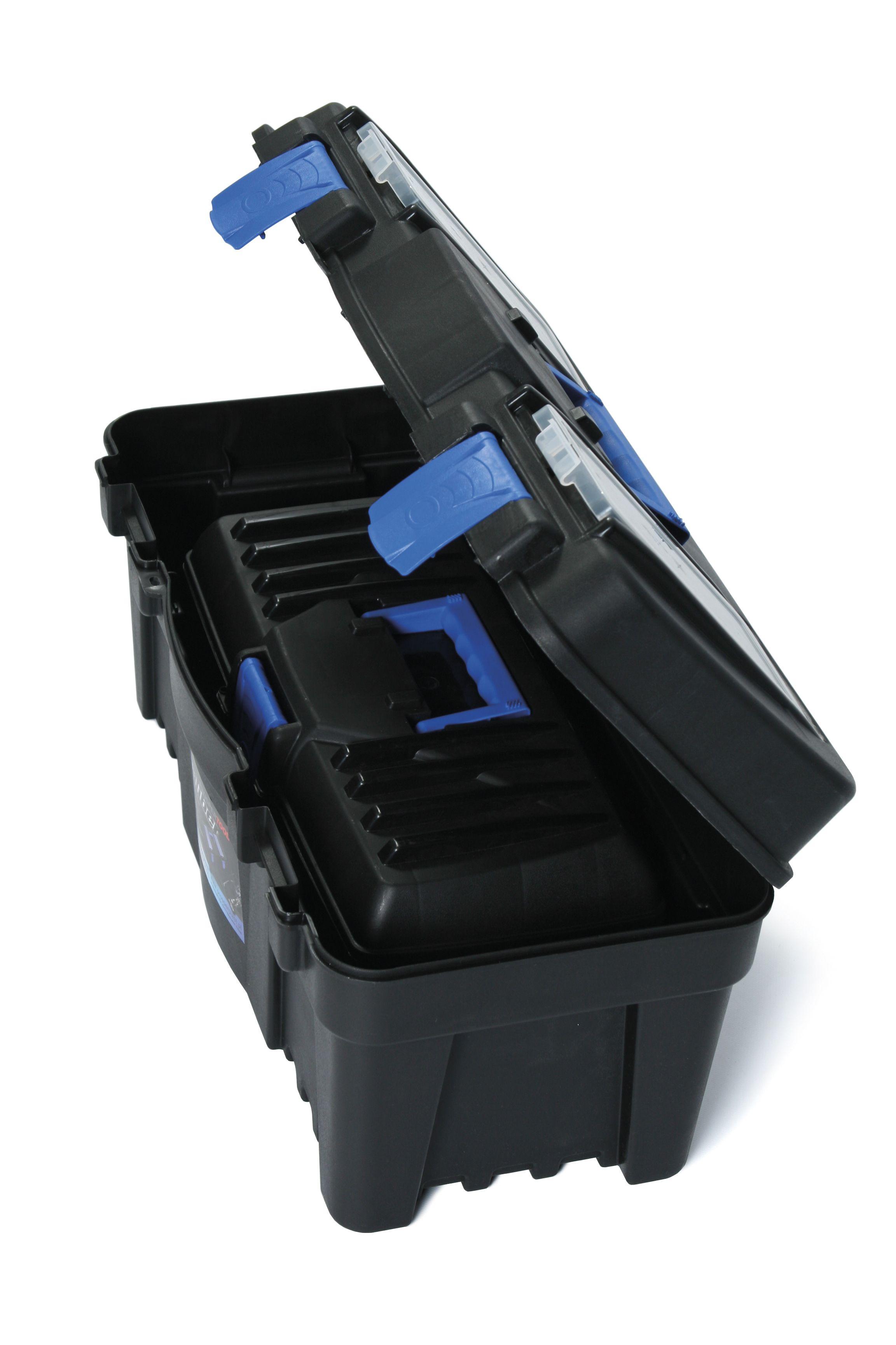 """Plastový kufr na nářadí 2v1 18"""", nosnost 6 + 11,5 kg, SETBOX SIXTOL"""