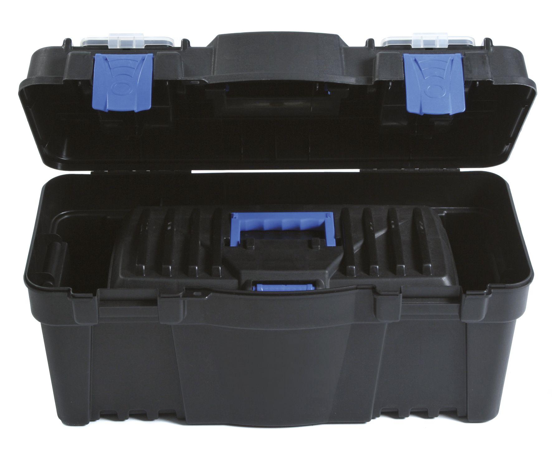 """Plastový kufr na nářadí 2v1 22"""", nosnost 6 + 19 kg, SETBOX SIXTOL NBX1222"""