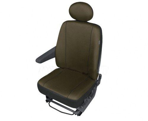 Autopotahy SOLID DV dodávka – 1 sedadlo, jantarové