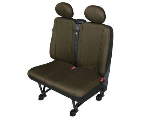 Autopotahy SOLID DV dodávka – 2 sedadla, jantarové