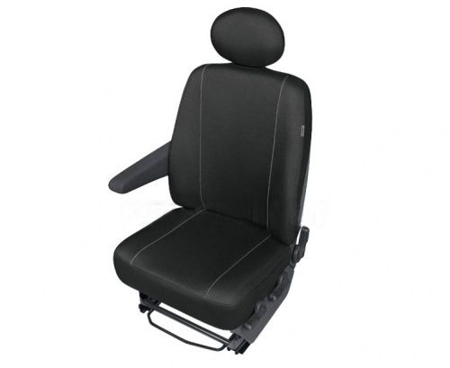 Autopotahy SOLID DV dodávka – 1 sedadlo, černé