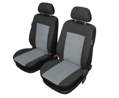 Autopotahy STUTTGART na přední sedadla, čtvercový černooranžový vzor