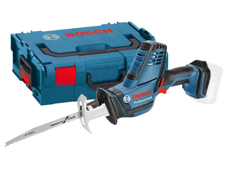 Aku pila ocaska Bosch GSA 18 V-LI C Professional - bez baterie, L-BOXX, 06016A5001