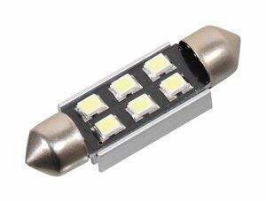 Žárovka 6 SMD LED 12V suf. SV8.5 38mm s rezistorem CAN-BUS bílá COMPASS