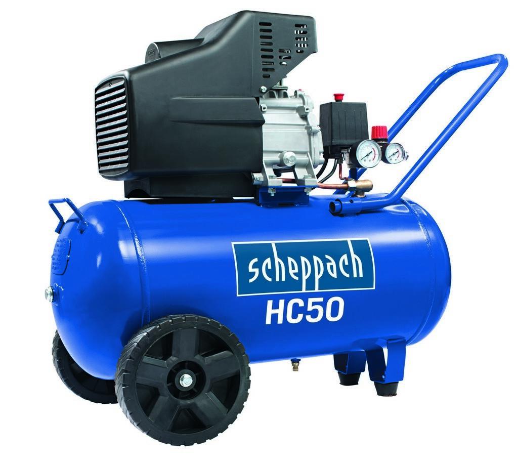 Scheppach kompresor olejový HC 50 s příslušenstvím, 1500W, Scheppach