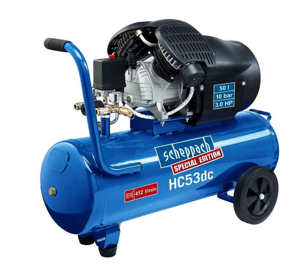 Kompresor olejový dvoupístový HC 53 dc, 2200W, Scheppach