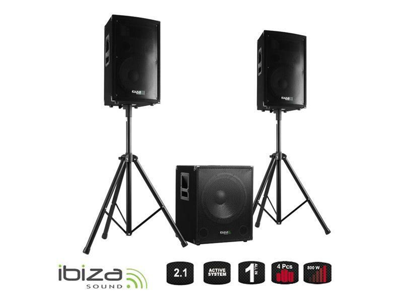 Fotografie Reprosoustava IBIZA CUBE1512 - aktivní ozvučovací set