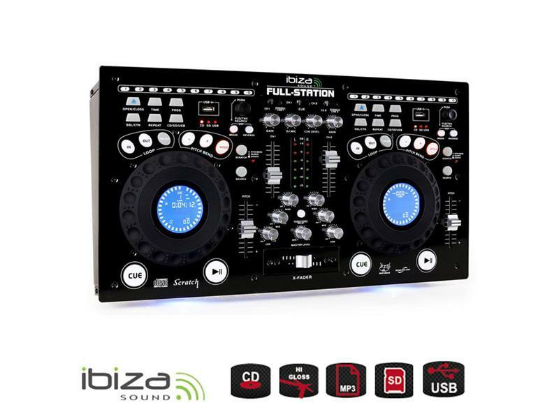 Mixážní pult IBIZA FULL-STATION s dvoj CD/USB/SD