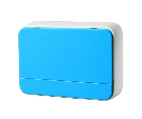 Zvonek domovní bezdrátový 1L41X 2xAA baterie, nastavení hlasitosti, modrý