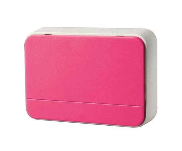 Zvonek domovní bezdrátový 1L41P 2xAA baterie, nastavení hlasitosti, růžový