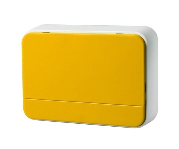 Zvonek domovní bezdrátový 1L41Y 2xAA baterie, nastavení hlasitosti, žlutý
