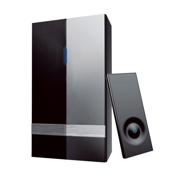 Bezdrátový zvonek, do zásuvky, 150m, černý, learning code SOLIGHT 1L39B