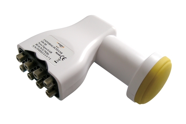 Satelitní konvertor Golden Media GM208 0.1dB octo