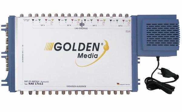 Satelitní multipřepínač Golden Interstar GI-17/12 kaskádové