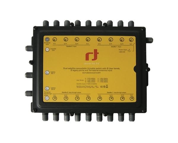 Satelitní multipřepínač Inverto 9/8 Unicable / Kaskádový + 2 standardní výstupy