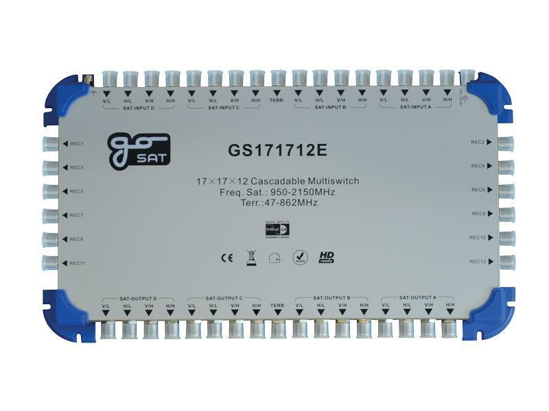 Satelitní multipřepínač GoSAT GS171712E